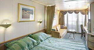 Balcony Stateroom - Guaranteed (Restricted View)