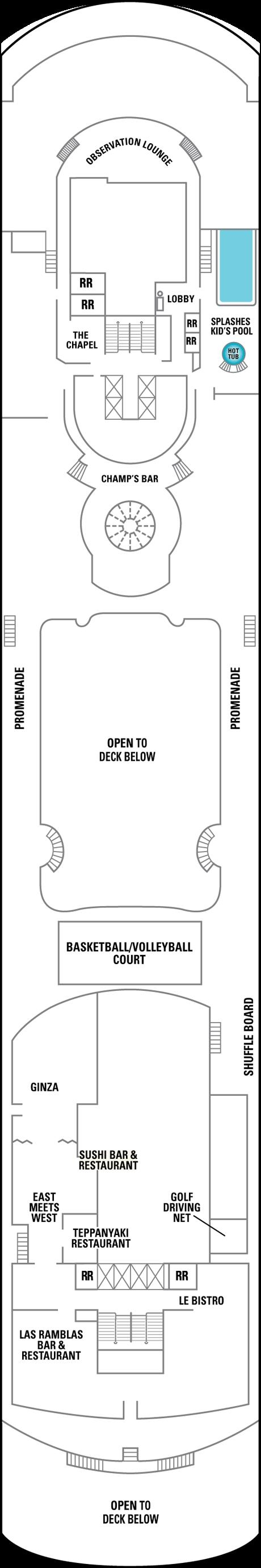 Deck Plan for Deck 12