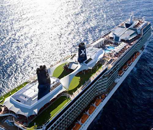 Celebrity Solstice Aerial Ship Shot