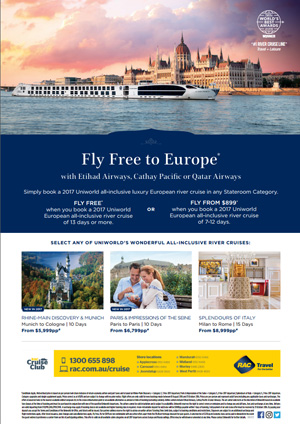 Uniworld Fly Free to Europe