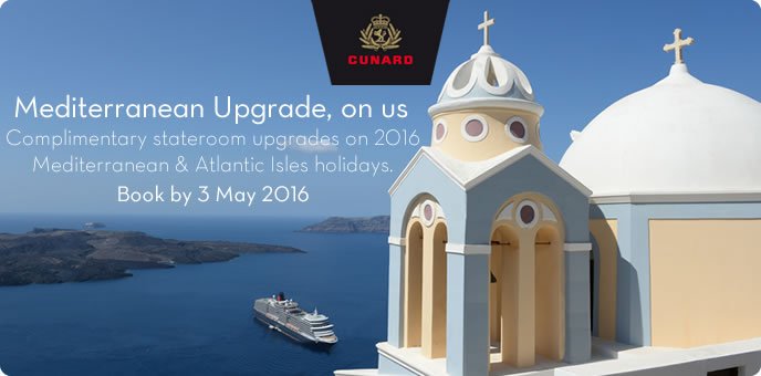 Cunard - Mediterranean Upgrade Offer