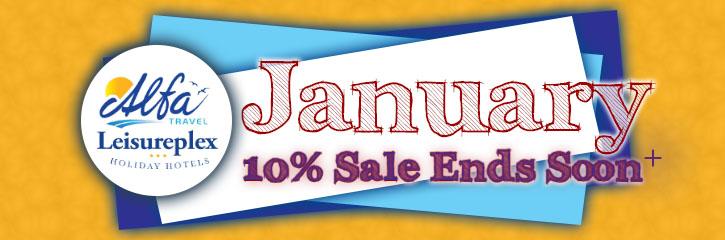 Alfa Travel - January 10% Sale
