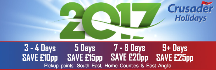 Crusader Holidays - 2017 Early Booking Offers!