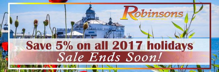 Robinsons Holidays - Save 5%
