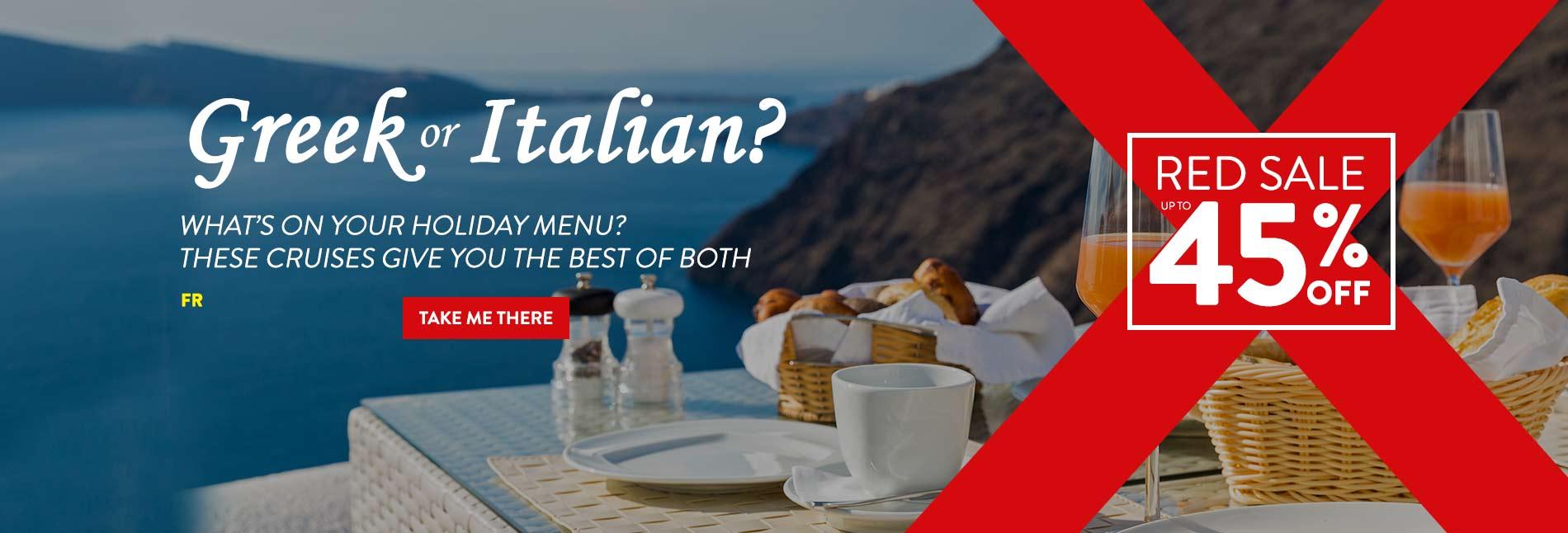 Greece & Italy Cruise Deals