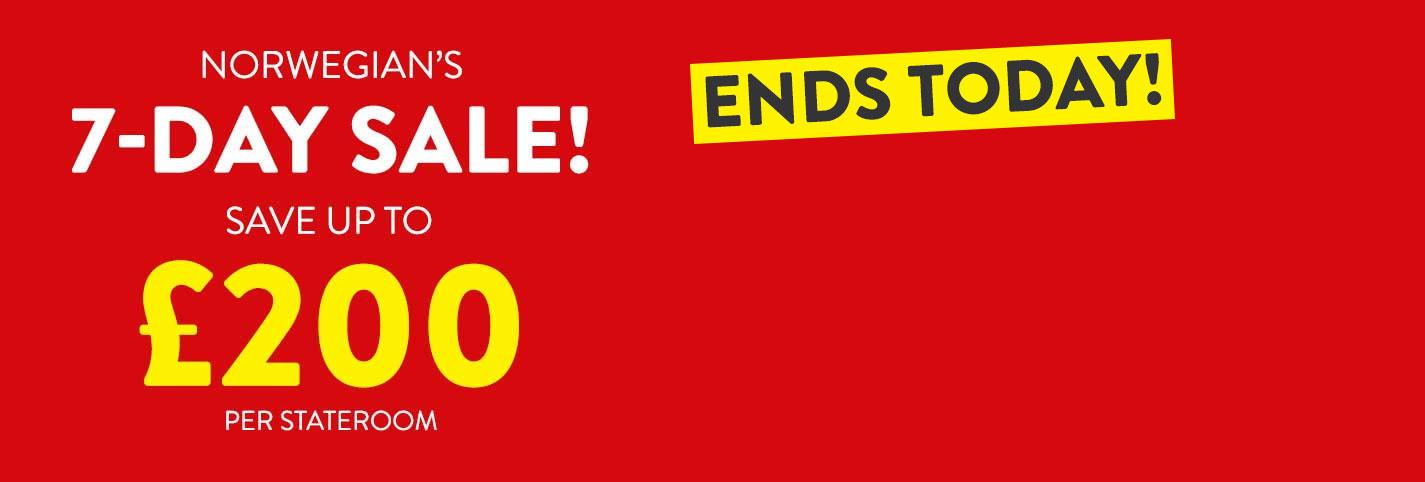 Norwegian 7 Day Sale