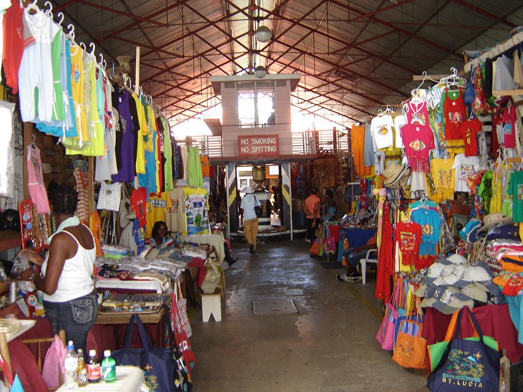 Castries shopping tour
