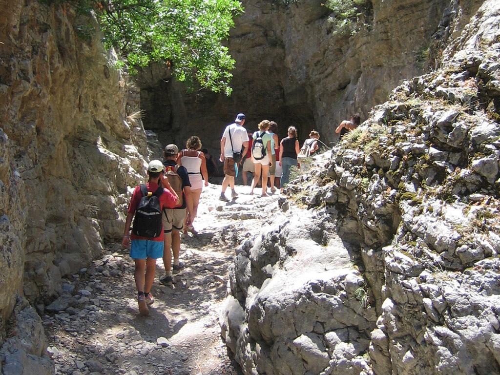 Imbros Gorge walking