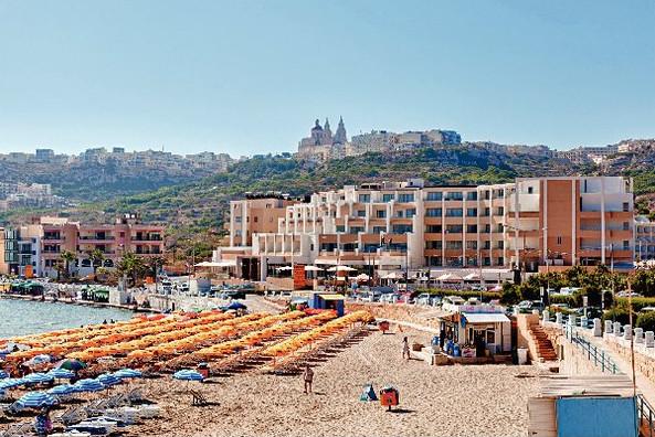 Mellieha beach view