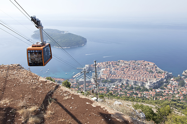 Cable car over Dubrovnik