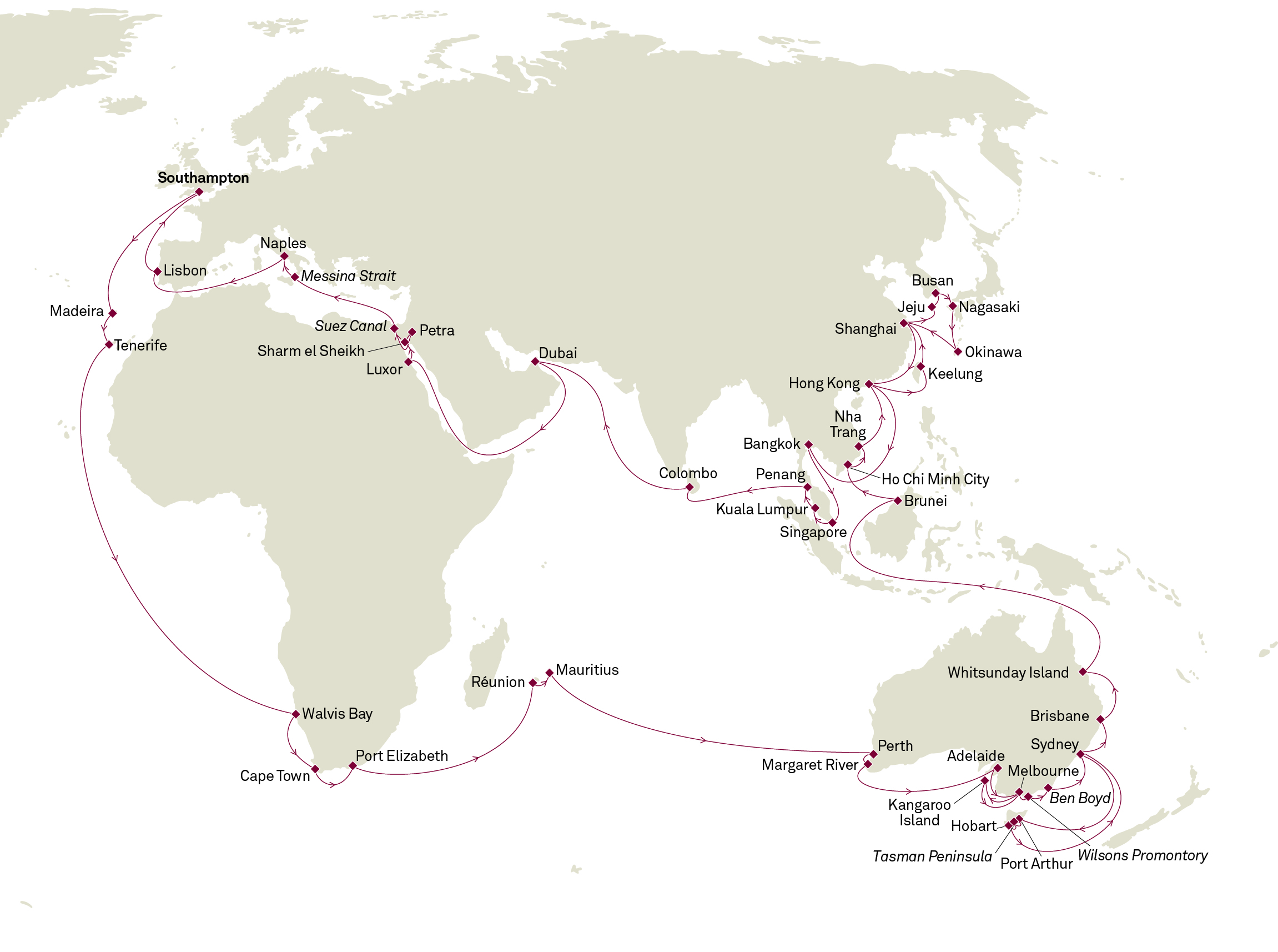 New World Cruises From Cunard And P Amp O Cruises Blog