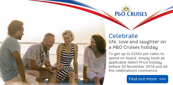 P&O Cruises - Free On Board Spending Money