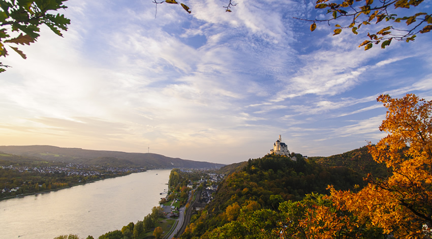 Marksburg Castle on the Rhine
