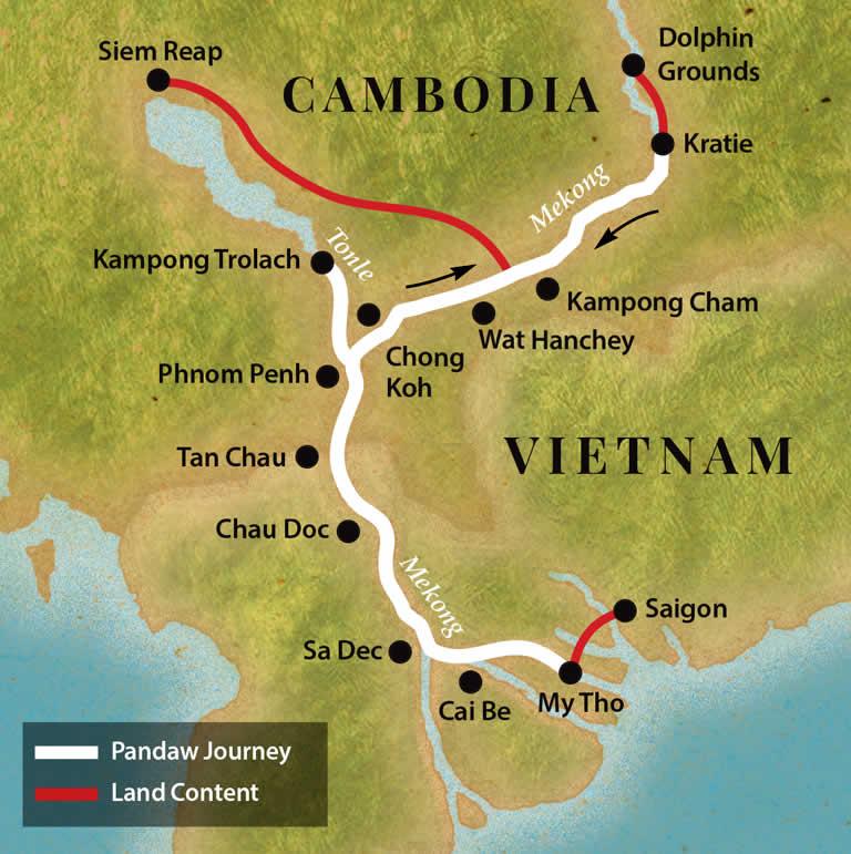 Classic Mekong Map