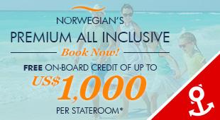 Norwegian Cruise Line - $1,000 OBC + Premium All Inclusive