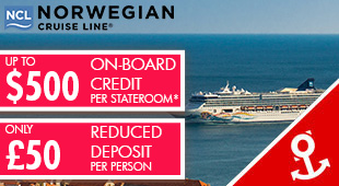Norwegian Cruise Line - up to $500 OBC + £50 Low Deposit!
