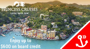 Princess Cruises - up to $600 obc