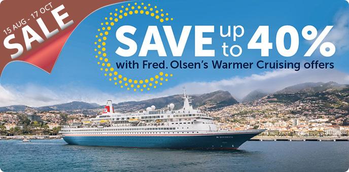 Fred. Olsen - Warmer Cruising Sale