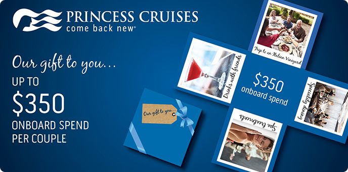 Princess Cruises - Sapphire Princess 2018 Onboard Credit