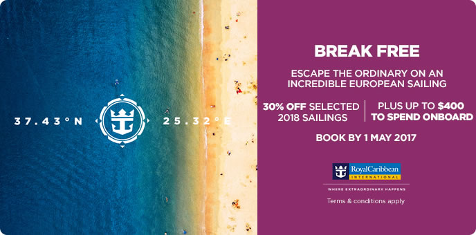 Royal Caribbean 2018 Cruises
