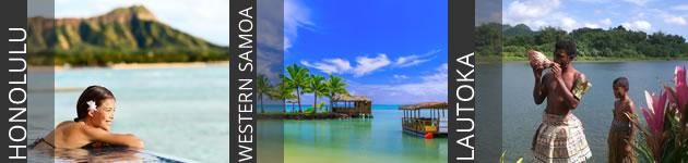 Hawaii, Western Samoa & Fiji