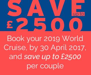 P&O Cruises World Cruise 2019 - Save