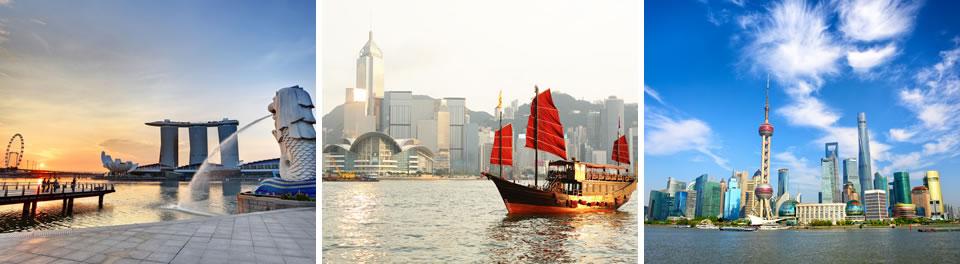Singapore, Hong Kong & Shanghai