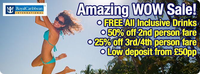 Royal Caribbean all inclusive cruise sale