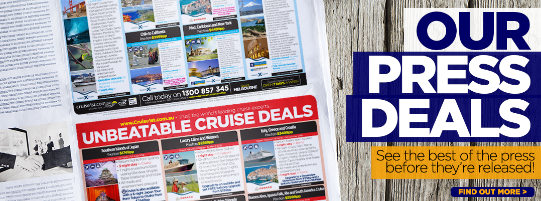 Cruise1st's Cruise Deals In This Weekends Press Adverts