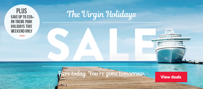 Generic | The Virgin Holidays Sale | Here today, You've gone tomorrow