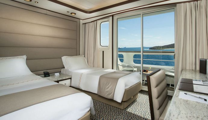 Cruceros Silverse, Veranda Suite