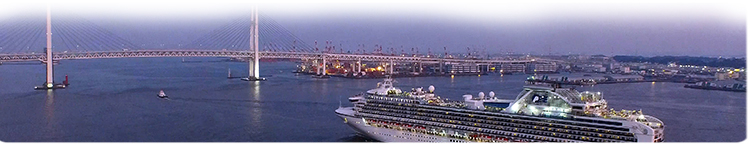Diamond Princess Leaving Yokohama