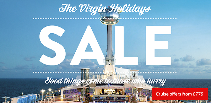 Generic | The Virgin Holiday Sale is here | Cruise Offers from £779pp