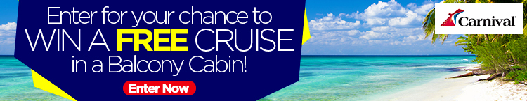 Win a cruise with Carnival Cruises