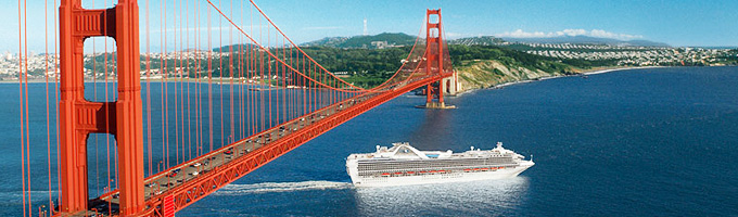 Princess Cruises - Golden Gate Bridge