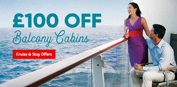Generic | £100 off Balcony Cabins | Cruise & Stay Offers