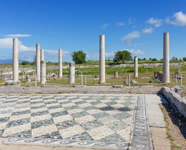 Ancient Archaeology Site in Pella