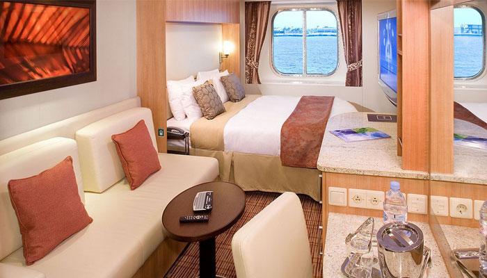 Cruceros Celebrity Cruises, Habitación con vista al mar