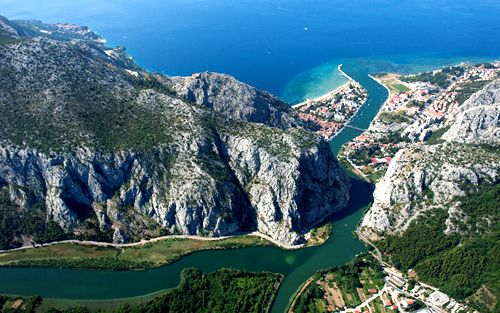 Coastal Town of Omiš