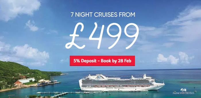 Generic | 7 night cruises from £499 | 5% Deposit