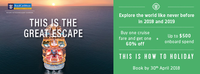 Up to $500 FREE Onboard Spend PLUS 60% Off Second Guest on selected cruises
