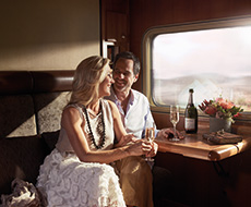 Relax with refreshments in your cabin