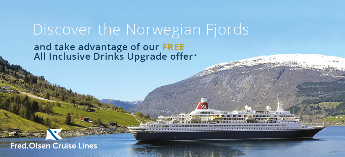 Discover the Norwegain Fjords with Fred. Olsen